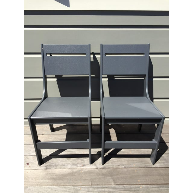 Loll Designs Cricket Gray Outdoor Chairs - A Pair - Image 2 of 3