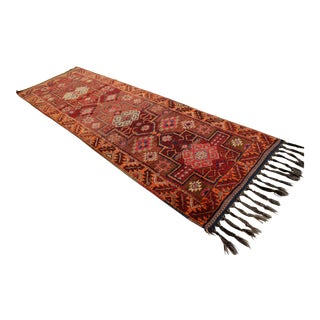 Kurdish Hand Knotted Runner Rug - 3′6″ × 11′3″