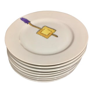 Crate & Barrel Canapé Plates - Set of 8