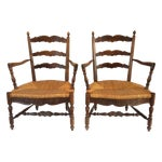 Image of Country French Arm Chairs - Pair
