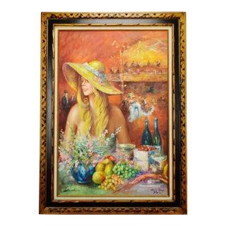 Paris Moulin Rouge Framed Signed Oil Painting