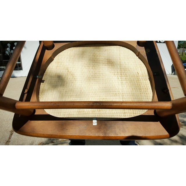 Mid-Century Modern Spindle Rocking Chair - Image 9 of 11