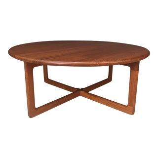 Danish Modern Round Teak Coffee Table