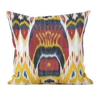 Silk & Cotton Ikat Pillows- A Pair