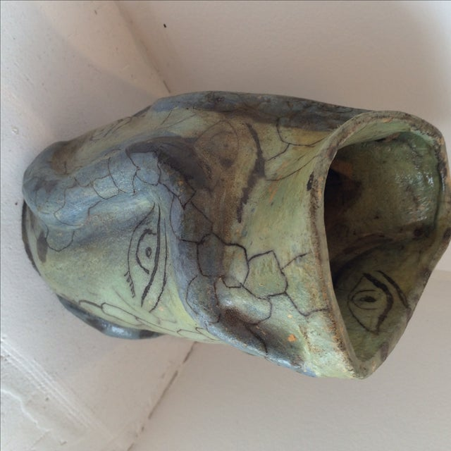 Studio Ceramics Green Eyes Pottery Vase - Image 7 of 9