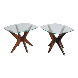 Adrian Pearsall Sculptural Walnut Side Tables