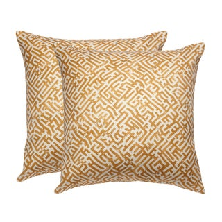 Zak & Fox Linen Print Pillows - A Pair