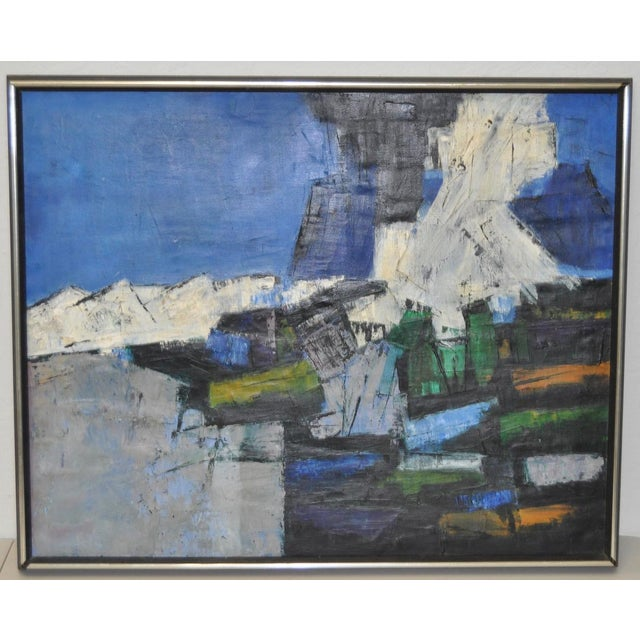 Image of Mid-Century Modern Abstract Painting c.1960