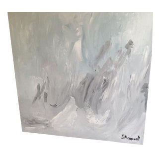 """Untitled #2"", Gray Abstract Painting"
