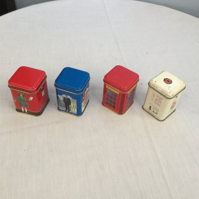 Image of Antique Miniature Tea Tins - Set of 4