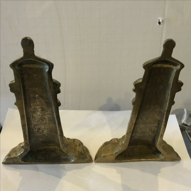 Brass Lighthouse Bookends - A Pair - Image 4 of 6