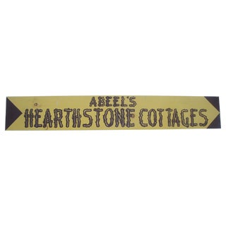 Long Advertising Sign for Camping Cottage, Handpainted Wood