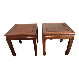 Mahogany Ming Style Bunching Side Tables - Purchased Abroad