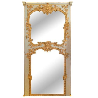 Louis XV Style Painted and Gilt Trumeau