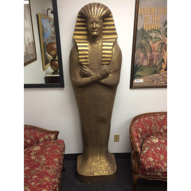 "6'3"" Cast Egyptian Sarcophagus - Image 2 of 5"