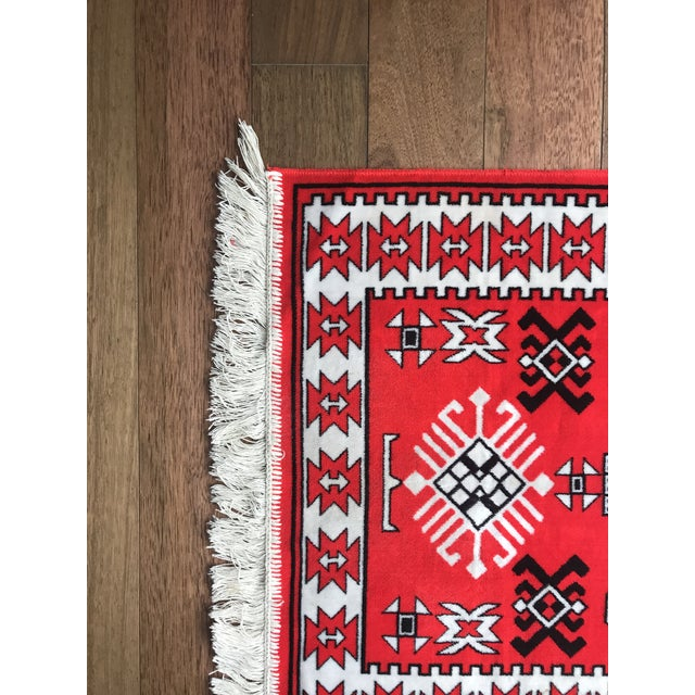 "Vintage Vibrant Red Rug - 2'3"" X 3'9"" - Image 5 of 6"