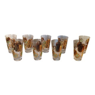 Vintage Barware Glasses - Set of 9