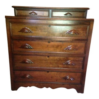 Antique Tall 6 Drawer Dresser