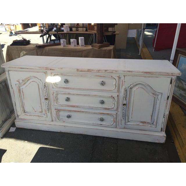 White Shabby Chic Rosette Dresser - Image 3 of 3
