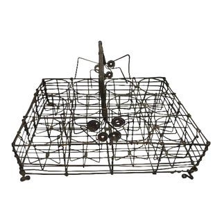 French Wire Glass Serving Basket