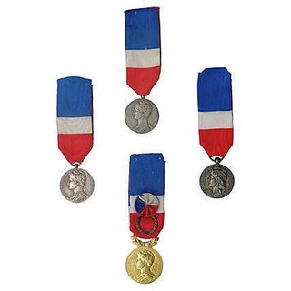 French Medal Collection - Set of 4