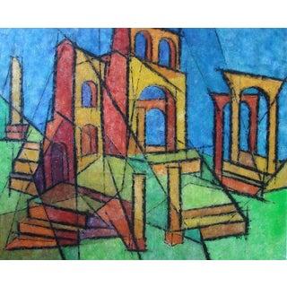 1960s Hildegarde Haas Roman Ruins Painting