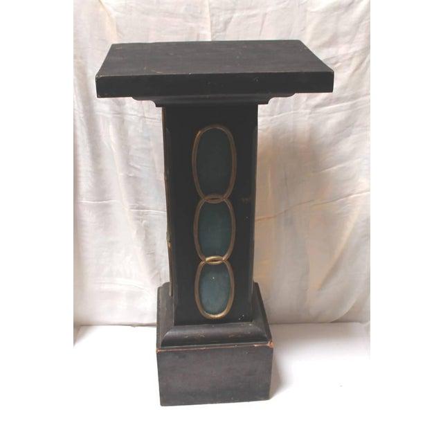 19th Century Masonic Lodge Original Painted Pedestal - Image 2 of 9