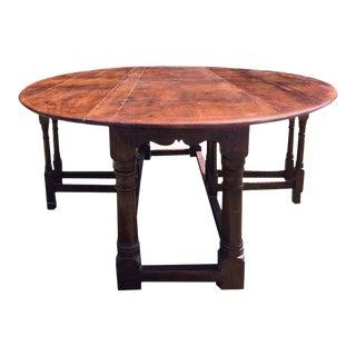 Large British Gateleg Dining Table