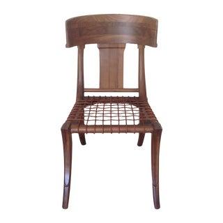 Mid-Century Modern Walnut Klismos Style Chair