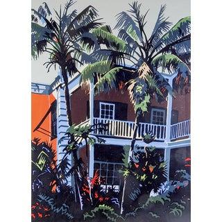 'Coco Palms' Serigraph by Jon Carsman