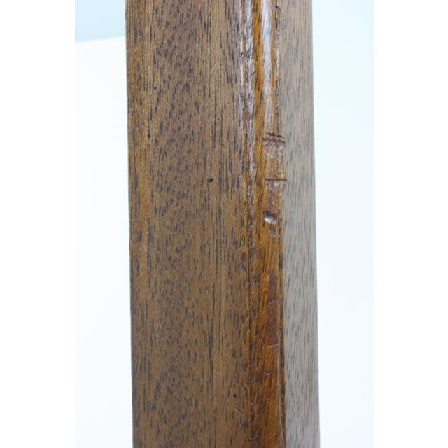 Mid-Century Large Scale Walnut & Acrylic Lamp - Image 6 of 7