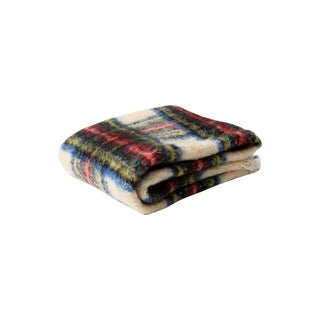 Vintage Plaid Mohair Throw