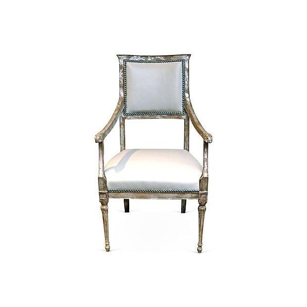 Image of Custom Niermann Weeks Leather Armchair