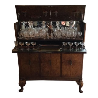 Lift Top Bar Cabinet & Crystal Collection - Set of 69