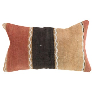 Orange Stripes Rectangle Kilim Pillow
