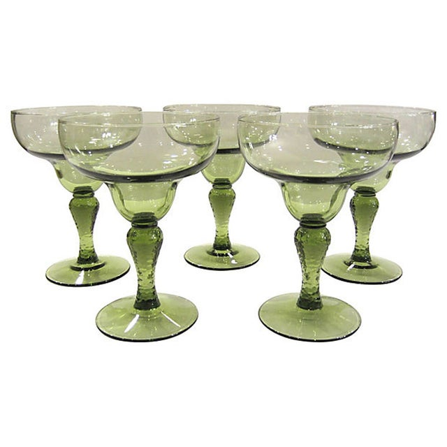 Image of Textured Margarita Glasses - Set of 5