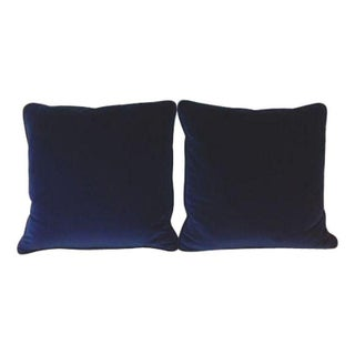 Brunschwig & Fil Blue Sapphire Velvet Pillows