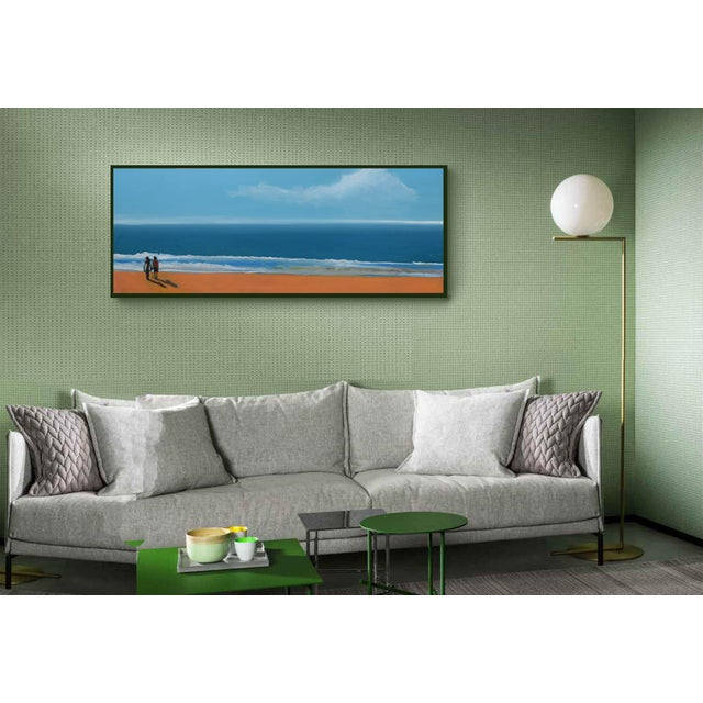 Small Sea With Couple Oil Painting - Image 3 of 10
