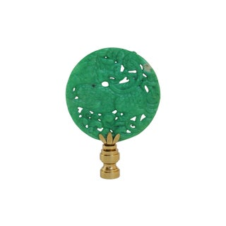 Asian Dragon Green Stone Lamp Finial