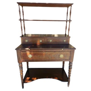 Antique English Mahogany Desk