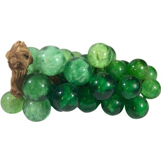 Mid-Century Green Acrylic Grapes