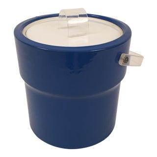 Mid-Century Blue Ice Bucket