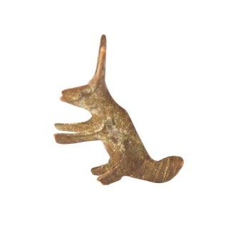 Vintage Oxidized Rabbit Bronze Gold Weight