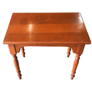 Vintage Ethan Allen Solid Maple Side Table