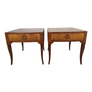 Baker Hollywood Regency End Tables - A Pair