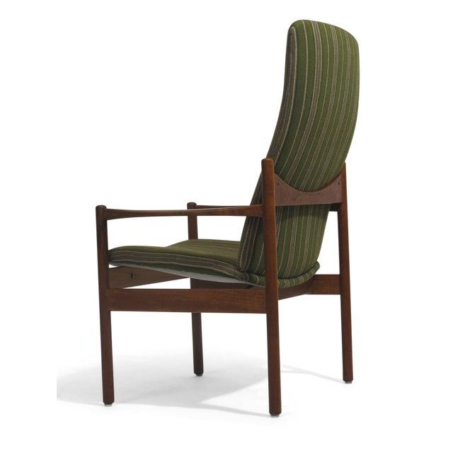 Mid-Century Danish Teak High-Back Lounge Chair - Image 4 of 9