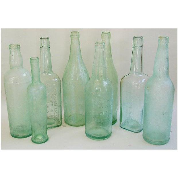 Pale Green-Blue Antique Bottles - Set of 8 - Image 3 of 8