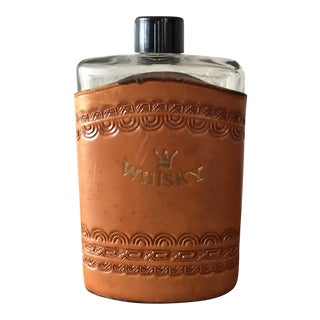 Tooled Leather Whisky Flask