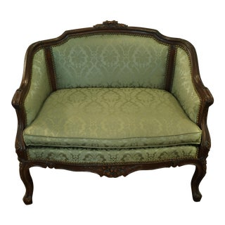 Antique Floral Carved Settee
