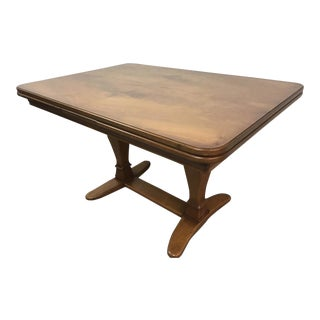 Vintage Walnut Expandable Dining Table